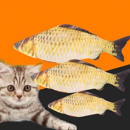 $enCountryForm.capitalKeyWord Australia - Pet Soft Plush Creative 3D Carp Fish Shape Cat Toy Gifts Catnip Fish Stuffed Pillow Doll Simulation Fish Playing Toy For Pet