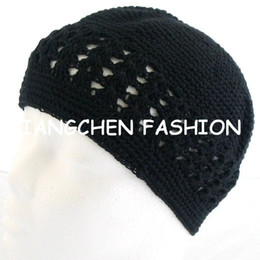crochet hat sizing Australia - Solid Color One-size Kufi Hat Beanie Skull Crochet Cap