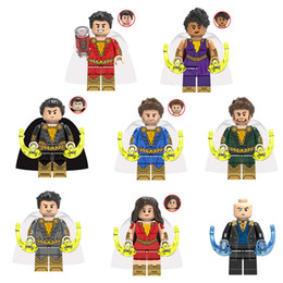 Black Blocks Australia - DC Super Hero Shazam Freddy Freeman Black Adam Pedro Pena Mini Toy Figure Building Block Assebmle Block Toy for Kid Boy