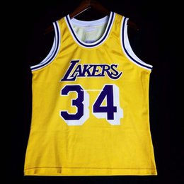 c65d44c625df 100% Stitched  34 Shaquille O Neal Champion wholesale Jersey Yellow Mens  Vest Size XS-6XL basketball Jerseys Ncaa