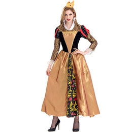 Costumes For Masquerade UK - Christmas Carnival Halloween Costumes For Alice In Wonderland Queen Costume Women Adult Masquerade Party Fancy Dress Cosplay
