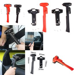 seatbelt cutter emergency UK - Car Safety Hammer Emergency Escape Tool Car Seatbelt Cutter Class Window Punch Breaker with Long Handle Carbon Steel