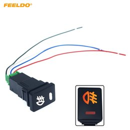 toyota camry lights Australia - FEELDO Car 12V Fog Light 5Pin Switch On-Off Button with Cable For Toyota Camry Corolla Work Light Switch Wire #6136