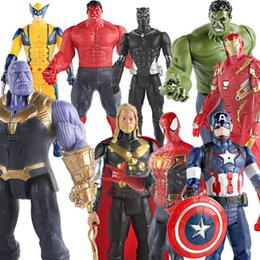 marvel avengers toys Australia - 2019 new 30cm Marvel Avengers Endgame Thanos Spiderman Hulk Iron Man Captain America Thor Wolverine Action Figure Toys Dolls for Kid