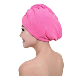 hair wraps Australia - VIP Microfibre After Shower Hair Drying Wrap Womens Girls Lady's Towel Quick Dry Hair Hat Cap Turban Head Wrap Bathing Tools