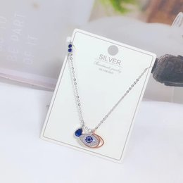 $enCountryForm.capitalKeyWord Australia - LeReveur Jewelry Real 925 silver Duo Evil Eye Pendant Mixed-plating, Rose Gold-plated Chain, Designed with Miranda Kerr
