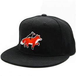 b96768f205d Crow and fox animal embroidery cotton Casquette Baseball Cap hip-hop cap  Adjustable Snapback Hats for kids men women 340