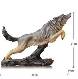 $enCountryForm.capitalKeyWord Australia - Art Figurine Wolf totem German shepherd furnishing articles simulation animal model desk decoration custom team award gift