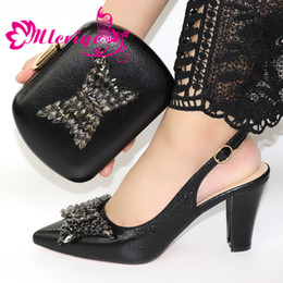 $enCountryForm.capitalKeyWord Australia - 2019 Black African Design Shoes and Bags To Match Set Nigerian Women Wedding Shoes and Bags Sets with Applique