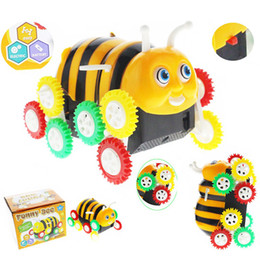 Wholesale movie bees resale online - Electronic Pets High Quality Amazing Kids bee charm Cute Funny Gifts Electric Colorful Cartoon wheels movie toys Degree Tumbling Car Toy