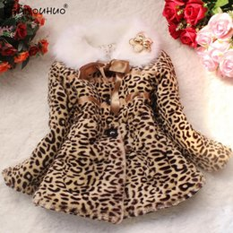 leopard print clothes for baby girls Australia - KEAIYOUHUO 2018 Winter Jackets For Kids Outerwear Thick Warm Leopard Print Baby Coats For Girls Jackets Children Clothing Jacket