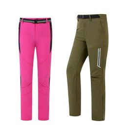 windbreaker pants men Australia - Outdoor Stretchy Quick-dry Pants Women and Men Couple Trousers Windproof Durable Sports Outfit Runninig Hiking Climbing Clothing for Male