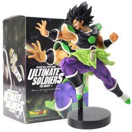 Wholesale 23cm Anime Dragon Ball Z Super Broly Ultimate Soldiers The Movie Banpresto Figure Toys Broli Ver Pvc Model Collection Doll J190508