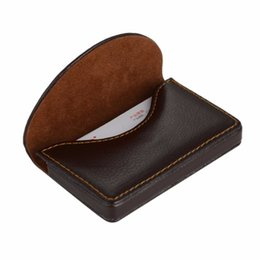 Wholesale Boxes Packaging Australia - Brand Wallet Leather Credit Package Card Holder Business Card Case Blocking Blocking Box Pocket#L3$