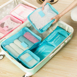 Wire dividers online shopping - Waterproof Nylon Storage Bag Set For Clothes Tidy Organizer Pouch Suitcase Home Closet Divider container Organiser