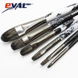 Art Supplies Paint Brushes Wholesale Australia - Eval Super Quality Ferret Badger Hair Artist Supplies Oil