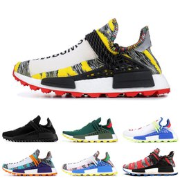 c1f34d9454f Original Human race Hu trail x pharrell williams Nerd men running shoes  black white cream SOLAR PACK mens trainers for women sports sneaker
