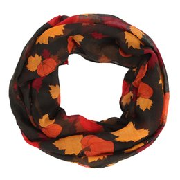 $enCountryForm.capitalKeyWord Australia - Fashion Women Pumpkin Maple Long Soft Wrap Scarf Thanksgiving Decoration Bufandas Invierno Mujer 2018 Manteau Femme Hiver