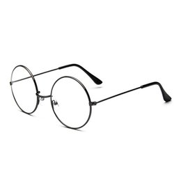 big frame clear lens glasses Australia - Fashion Classic Retro Big Round Vintage Glass Frame Metal Frame Clear Lens Spectacle Eye Glasses Women Men Optical Eyewear