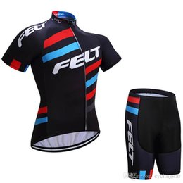 Wholesale Team Item Dark Blue Cycling Jersey Set Short Sleeve Bicycle Clothing Men Bike D Red Gel Pad Lycra Shorts Bikes Clothes