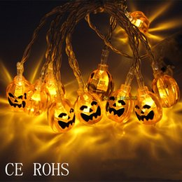 Coquimbo 1.5M 3M Halloween Pumpkin LED String Lights Garden Home Party Decoration Holiday String Light Halloween Lights on Sale