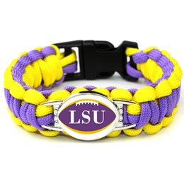 $enCountryForm.capitalKeyWord Australia - American LSU Athletics football basketball baseball teams survival paracord bracelets bangles for fans gifts