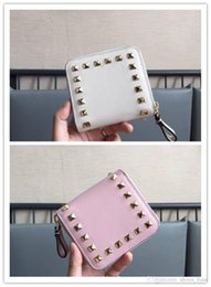 $enCountryForm.capitalKeyWord Australia - High-end custom quality package Imported genuine leather small and exquisite Rivet element handbag The wallet card bag
