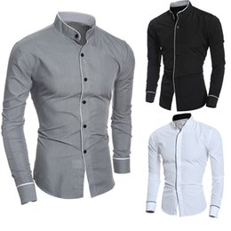 $enCountryForm.capitalKeyWord Canada - Men Shirt Male High Quality Long Sleeve Shirts Casual Hit Color Slim Fit Black Man Dress Shirts 4XL Mens Shirts 2019