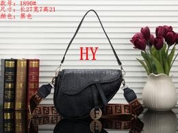 $enCountryForm.capitalKeyWord Australia - New designer womens handbag fashion letter shoulder bag high quality genuine leather Messenger Clutch Purse luxury saddle bag