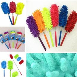 Cleaning Pictures NZ - Retractable dust brush car wash dusting brush High Quality Household Dusting Household Cleaning Tools mini feather duster T8I005