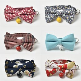 bandana scarf dog collar wholesale UK - Dog Triangle Bandanas Adjustable Pet Dog Cat Neck Scarf Tie Bowtie Necktie Bandana Bowknot Collar Neckerchief Dog Accessories Plaid Scarf #39