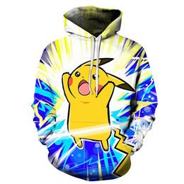 8094768f86a9 Pikachu Clothing Australia - 2019 Fashion Hoodies Men 3d Print Pokeball Pikachu  Sweatshirt Brand Clothing Unisex
