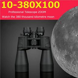 Camping Hiking Telescope UK - 10-380X100 Professional Telescope Long Range Zoom Hunting Binoculars High Definition Camp Hiking Night Vision Telescope K2669