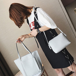 open coin 2019 - Summer Fashion Women Leather Shoulder Bag Handbag Satchel Tote Bag Pure Color Big Bags Coin Purse discount open coin