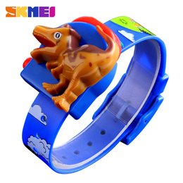 fashion love watch NZ - SKMEI Interesting Kids Watches Fashion Children Watch Creative Dinosaur Model Boys and girls Love montre enfan 1468 Red Blue