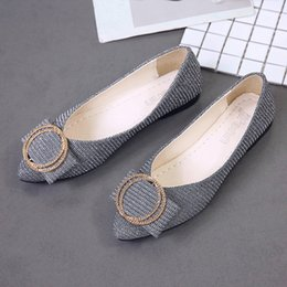 Slip Dresses For Sale Australia - Designer Dress Shoes Hot sale Women Sequins Shallow Slip On Low Heel Party Pointed Single for dropshipping