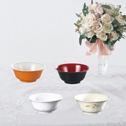 melamine bowls wholesale Canada - Melamine Dinnerware Lotus Flower Bowl With Chain Restaurant Rice Bowl A5 Melamine Bowls Melamine Tableware Kitchen Soup Bowl