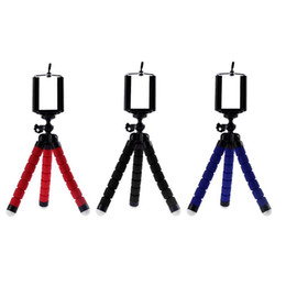 Discount phone tripod holder & Accessories Tripods Flexible Sponge Octopus Tripod For Mobile Phone Camera Holder Clip Smartphone Monopod Tripe St