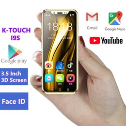 China Pocket Mini Android Smartphone K-TOUCH I9S MTK6580 16GB Celular GPS WIFI Face ID Support Google play Super Small Mobile Phones PK XS 7S cheap pink mp3 player 1gb suppliers