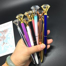 pen big Canada - Metal Artificial Crystal Big Diamond Ballpoint Pen for Office & School Writing Stationary