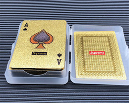 Discount golden poker cards - Fashion Personality Poker Playing Card Golden Frosted High Temperature Laser Embossing PET Waterproof Poker Card 57*87(m