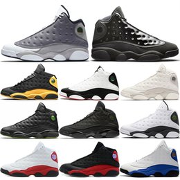 Table Cat Box Australia - 13s High Men Basketball Shoes 13 Cap And Gown Atmosphere Grey He Got Game Black Cat Bred Phantom Designer Sport Trainers Sneakers