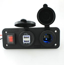 Mobile Power Socket NZ - power socket marine boat or Car charger accessories Car multi-function conversion power socket with indicator mobile phone navigation