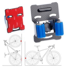 portable car park UK - Bicycle Wall Mount Hooks Bicycle Parking Rack Mountain Bike Road Car Parking Buckle Portable Wall Rack Indoor Vertical Bracket