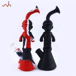 China Mario design Silicone Bong Unbreakable New Smoking Water Pipes Non Toxic Platinum Cured Silicone 11 Colors Glass Water Pipe Free Shipping suppliers