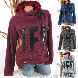 Wholesale sleeveless hoodies sweatshirts resale online - Womens Hoodie Sweatshirt Long Sleeve Sweater Blouse Jumper Pullover Tops Coat Spring Autumn Long Sleeveless Sweatshirt Womens