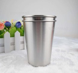 tumblers cups Australia - 350ML Stainless Steel Cups 12 Oz Pint Cups Water Tumblers Stackable and Unbreakable Drinking Cups Free Shipping