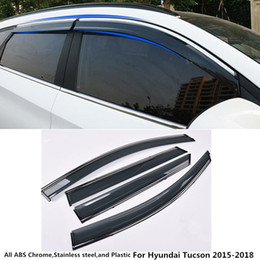 Visor Glasses Australia - For Hyundai Tucson 2015 2016 2017 2018 car body styling cover Stick lamp plastic Window glass Wind Visor Rain Sun Guard Vent