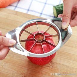 Kitchen Process Australia - Stainless steel Apple Slicer Vegetable Fruit Apple Pear Cutter Slicer Processing Kitchen slicing knives Utensil Tool