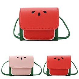 watermelon kids bag UK - 2020 New Kids Shoulder Bags Fashion Cute Watermelon Portable Messenger Bag Crossbody Bag for Children Girls Women
